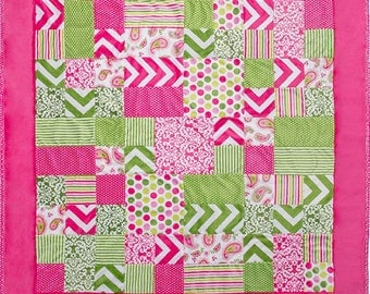Minky Quilt Kit - Kozy Cuts: Girl Talk