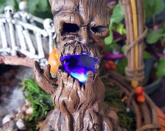 Miniature Scary Tree - Lights Up!!