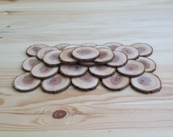Set of 30 plum slices 3 inch 30 slices 30 wood slices Set of 30 slices 3 inch