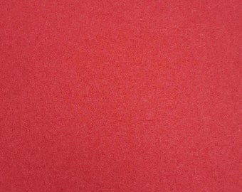 Boiled Wool Dressmaking Fabric - Coat Weight - Berry Red
