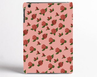 Roses iPad Case, Tablet Case  - 2nd Gen iPad Case, 3rd Gen iPad Case, 4th Gen iPad case - wood effect