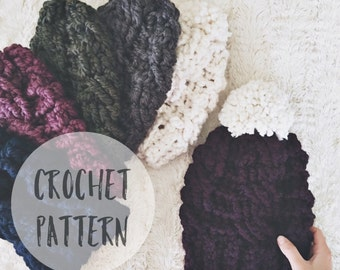 The Evergreen Hat Crochet Pattern | Crochet Pattern.  Hat. Crochet Hat. DIY Hat Pattern.  Crochet Cables. Craft supply.
