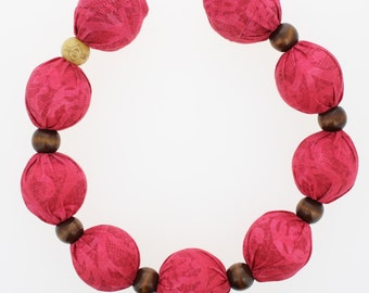 Freezer-charged Cooling Necklace - Coral/Orange