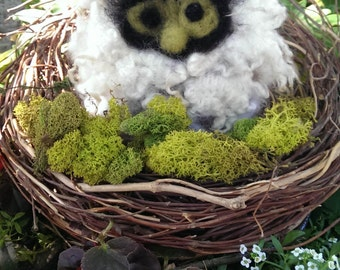 Felted Woodland Owl