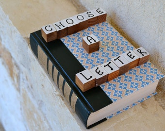 Readers Digest Book Letter-Blue/Pink Pattern