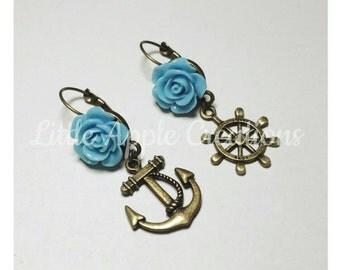 Marines vintage earrings (nickel free)