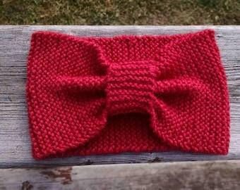 Wool Headband, Knit Ear Warmer