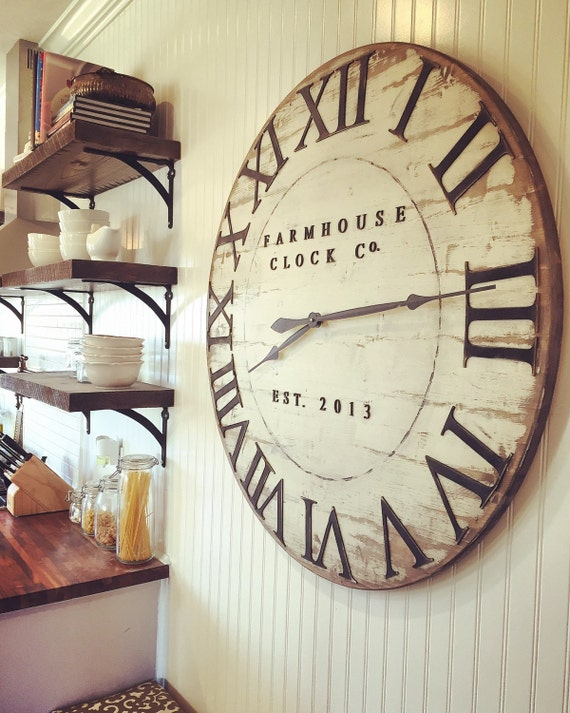 Extra Large Roman Numeral Farmhouse Clock By