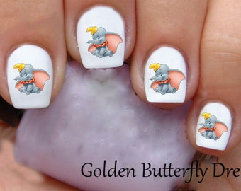 1232 Disney Dumbo  Waterslide Nail Art Decals Decal Stickers Enough For 2 Manicures
