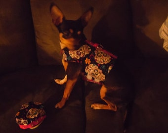 Pampered Pooch Dog Vest Harness**Dia de los Muertos**BLING