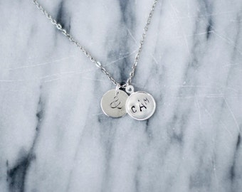 Personalized silver charm