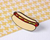 Hotdog Enamel Pin // Fast food pin // Pin game // Hot dog pin // lapel pins // EP064