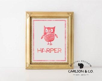 Children's Name Printable; Children's Wall Art; Nursery Wall Art