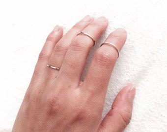 Simple thin ring, midi ring, golden thin ring