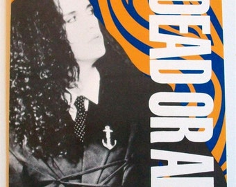 DEAD OR ALIVE Concert Gig Flyer The Saint Nyc Circa 1985/6 Pete Burns *Rare* New Wave You Spin Me Round Hooked On Love