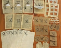 Vintage journal and stationery bundle