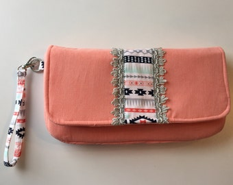 Clutch/native fabric/ cute