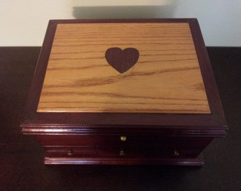 On SALE: Rose Wood Jewelry Box
