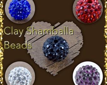 10mm Clay Round Shamballa Beads, Bling beads,Rhinestone ball, Rhinestone beads,Rhinestone Jewelry, Bracelet beads, Handmade Beads,Clay Ball