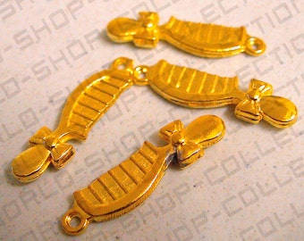 9mm Comb Pendant, Alloy Gold Color,Charms, Jewelry Making,