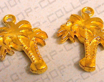 20mm , Gold Alloy Palm Tree