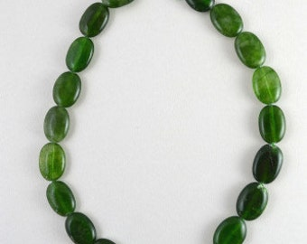 Aventurine  Green Oval Gemstone Beads 1 strand 21 PCs Size 13x20mm Hole Size 1mm Natural, healing, chakra, birthstone for Jewelry Making
