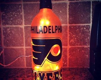 Philadelphia Flyers wine bottle light