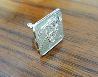 Silver Repurposed Maximus Disney Pin Ring
