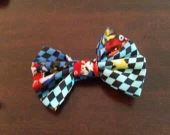 Mario Kart Racing Hair Bow