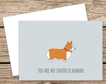 Lovely Corgi Blank Card. Corgi Greeting Card. Funny Dog Card. Cute Corgi Greeting Card. Love Corgi.Funny Corgi Card. Funny Animal Card.