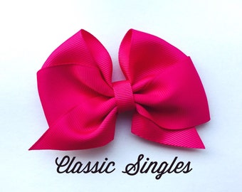 Classic Bow Singles, hair bows, bow headband, bow clips, toddler bow, hair bows for girls, baby bows, dollar bows