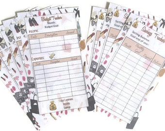 A5, Personal Filofax size, LV Inspired Inserts Budget Tracker, Savings tracker, Finance Planner, money goal