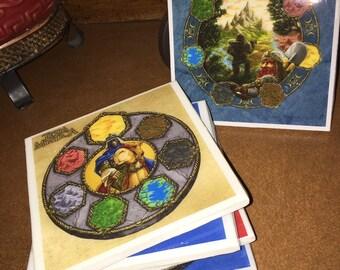 Terra Mystica Ceramic Coasters (Set of 5)