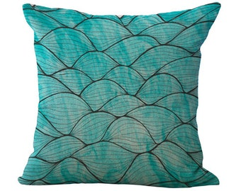 Blue Waves - Pillow Cover
