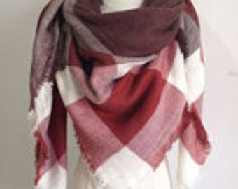 Light/Dark Maroon Scarf