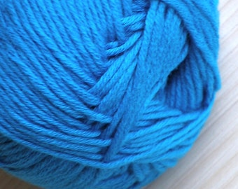 Cotton Yarn Alize Bella Natural Yarn Summer Knitting Crochet Yarn Baby Yarn Hypoallergenic Yarn Blue Cotton Yarn