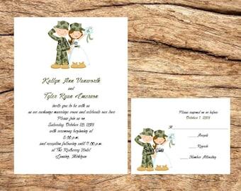 military wedding invitations etsy wedding invitations - Military Wedding Invitations