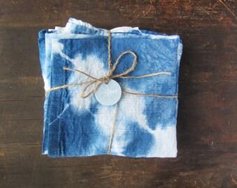 shibori dyed, indigo tea towel, hostess gift, father's day gift, tie dyed, housewarming gift, kitchen towel, flour sack towel, boho chic