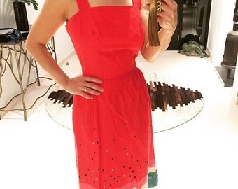 Super cute 1950s watermelon print dress