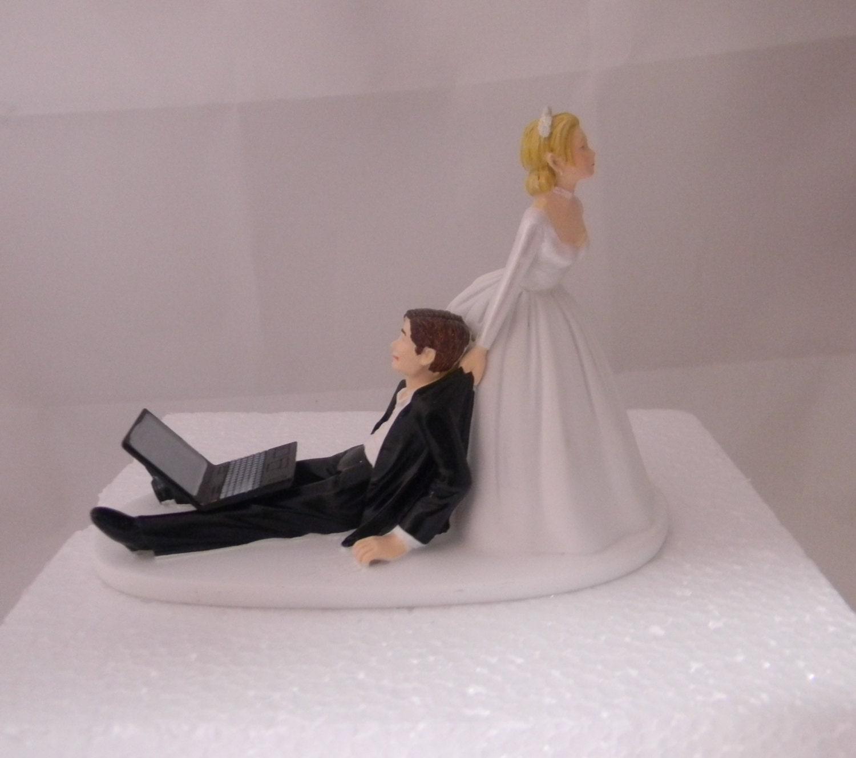 Wedding Reception Party Laptop puter Nerd Geek Cake Topper