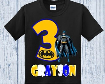 Batman Birthday Shirt - Batman Shirt - Other Colors Available