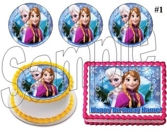 Frozen Inspired cake, cupcake & cookie toppers, edible prints for Birthday Parties or any Special Occasion!