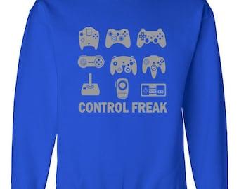 Gamer Sweatshirt Control Freak Controllers Geek