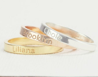 Name Ring / initial Ring / Personalized name Jewelry / Location Ring . FT2