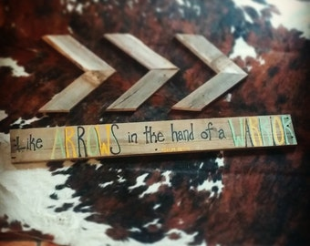 Like Arrows in the Hand of a Warrior Reclaimed Wood Sign; Christian Pallet Sign