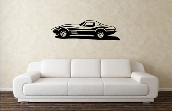 CHEVY CORVETTE Vinyl Wall Decor Decal Great For By