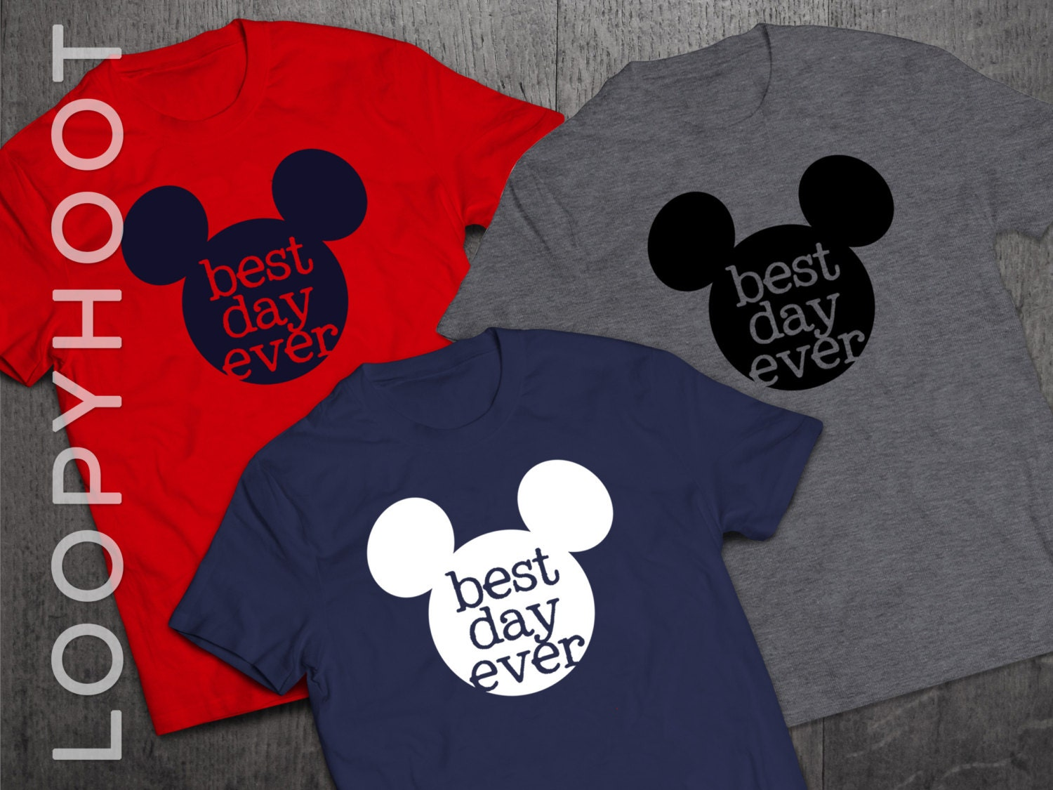 Disney Shirts Best Day Ever Mouse Ears Family