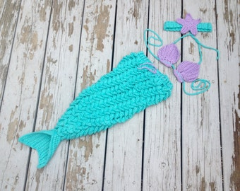 Mermaid photo prop-baby shower-mermaid costume-crochet mermaid-baby mermaid outfit-toddler mermaid outfit-mermaid costume-first birthday