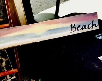 """Handpainted """"The Beach"""" Sunset"""