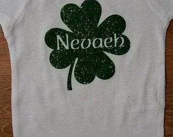 Personalized St Patricks Day Onesie, St Patty's Day Onesie